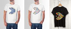 shirt design Different, Your Design, Shirt Designs, T Shirts For Women, Illustration, Mens Tops, How To Wear, Fashion, Moda