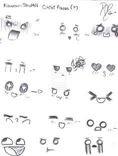 ojos chibi - Buscar con Google