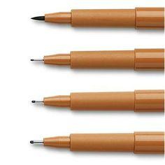 Faber Castell Pitt Artist's Pen 4 Pack Sanguine