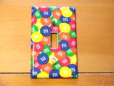 M's Candy Single Toggle Light Switch Plate. via Etsy.