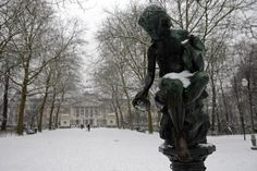Parc Royal in Brussels with snow -  Brussels, Belgium