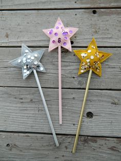 Princess Wand, Star Wand, Fairy Wand, Party Favor, First Birthday Party Gift, Baby Shower Decor, Baby