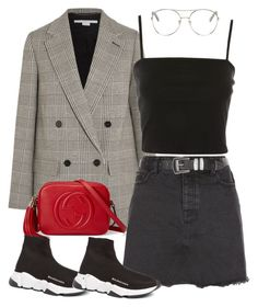 """588"" by ari-rogers ❤ liked on Polyvore featuring STELLA McCARTNEY, Topshop, Gucci, Balenciaga, New Look and Chloé"