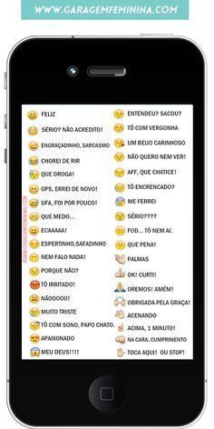 Significado dos emojis www.garagemfeminina.com #emojis #emoticons #dicas #iphone
