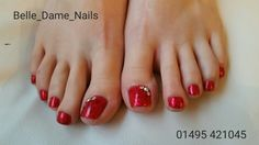 Red ruby slippers pedicure. By Felicity Burgess-Young at Belle Dame Nails. #BDLADY #nails #nailart