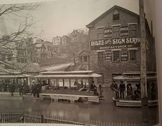High Water Streetcars..1915..Queen City Ave.