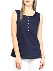 blue colored cotton top - Online Shopping for Tops