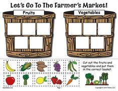 Help your kiddos learn which foods are fruits and which ones are vegetables with this fun Farmer's Market sorting worksheet! Sorting worksheets like this one are great for preschoolers and...
