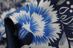 Blue Tropici - Satin Silk - Tessuti Fabrics - Online Fabric Store - Cotton, Linen, Silk, Bridal & more