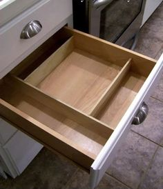 make your own drawer organizers that fit what you need it to fit! love this!