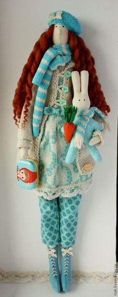 Куклы Тильды ручной работы. Ярмарка Мастеров - ручная работа Тильда Энни в цветах  Тиффани. Handmade.