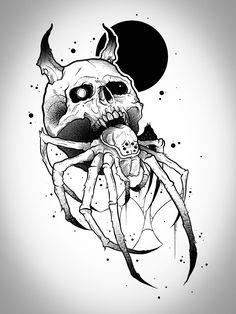 Dark Art Tattoo, Tattoo Flash Art, Line Art Tattoos, Half Sleeve Tattoos Sketches, Tattoo Sketches, Dark Art Drawings, Tattoo Design Drawings, Skull Tattoos, Black Tattoos