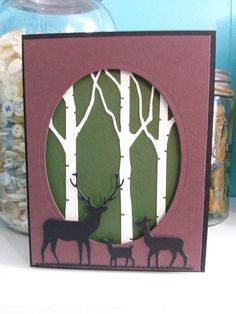 Memory Box Birch Tree Die-Masculine card