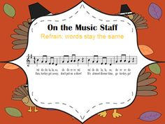 The Turkey Dance - Thanksgiving activity for upper elementary music students