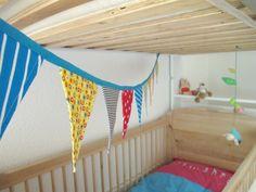DIY - idée déco: banderole de fanions pour chambre d'enfants
