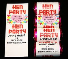 20 Personalised Love Heart Sweet Favour Hen Night Party   eBay