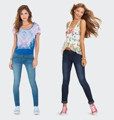 Low-Rise Jeggings and Jeans at dELiA*s