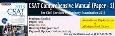 CSAT Comprehensive Manual For Civil Services Pre Examination - 2013 (Paper -2)
