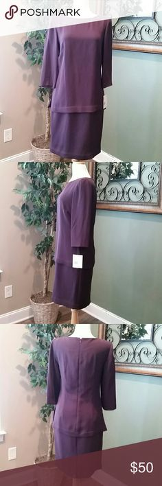 NWT LIZ CLAIBORNE Purple  Dress Dress to impress great for interviews or work attire. Play it up with jewelry and your ready to go. Dress fully lined and confortable. Liz Claiborne Dresses Midi