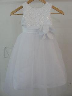 On sale Flower Girl Dress Sequin Double Sparkly by kidsdressess
