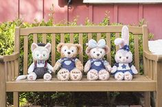 Duffy and Friends Tokyo Disney Resort, Tokyo Disneyland, Duffy The Disney Bear, Disney Love, Disney Cats, Happy Friends, All Things Cute, Iphone Wallpaper, Plush