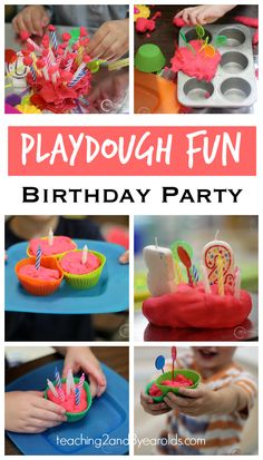 Playdough Birthday Activity for Toddlers and Preschoolers