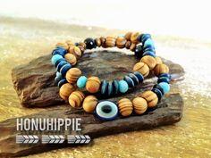 Evil Eye Cuff Bracelet Set, boho gypsy hippie jewelry by HonuHippie on Etsy https://www.etsy.com/listing/268722637/evil-eye-cuff-bracelet-set-boho-gypsy