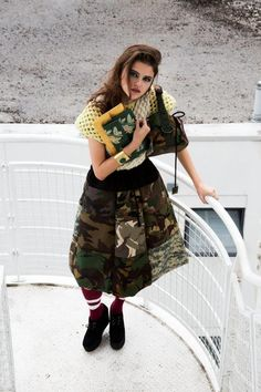 james hock camo skirt & camo cube bag in rough magazine Camo Skirt, Cube, Harem Pants, Magazine, Bag, Skirts, Style, Fashion, Purse