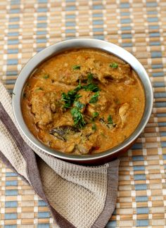 Chicken Salna Recipe- A fragrant watery chicken curry with a unique blend of freshly roasted spices like cumin, fennel seeds, pepper corns along with shallots, coconut and roasted chickpeas.