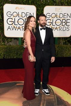The Cutest Couples at the 2016 Golden Globes | Olivia Wilde and Jason Sudeikis