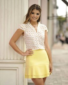 look book 4 Beautiful Blouses, Beautiful Outfits, Casual Summer Outfits, Casual Dresses, Women's Fashion Dresses, Pretty Dresses, Blouse Designs, Dress Skirt, Ideias Fashion