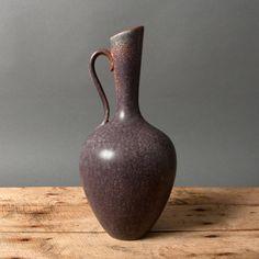 gunnar nylund pitcher purple brown nylund denmark by northvintage