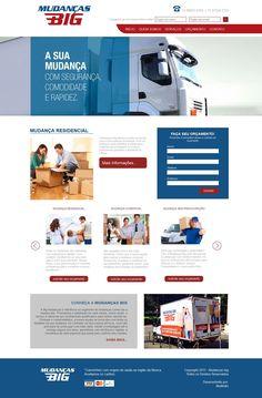 Criação de site para empresa de mudança
