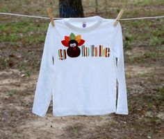 Thanksgiving gobble turkey shirt for boys or girls November Thanksgiving, Thanksgiving Crafts, Holiday Outfits, Holiday Clothes, Silhouette Cameo Vinyl, Fall Baby Clothes, My Baby Girl, Baby Baby, Fall Shirts