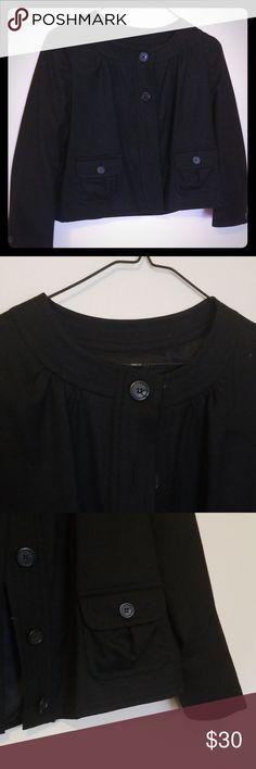 d19f165c4fa5 J.Crew 100% wool black short blazer women s 6 J.Crew 100%