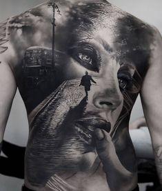Black & Grey Realism Back Tattoo Back Tattoos For Guys, Full Back Tattoos, Full Body Tattoo, Tattoo On, Great Tattoos, Skull Tattoos, Body Art Tattoos, Sleeve Tattoos, Back Piece Tattoo