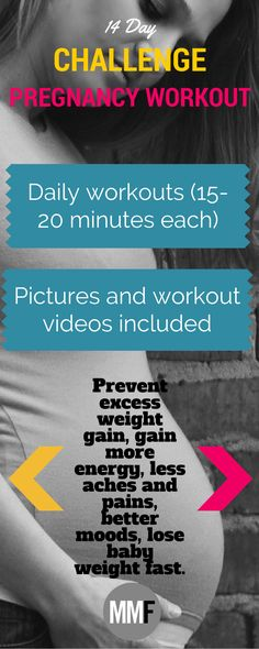 The motivation and guidelines you need to start exercising during pregnancy. 14 Day Jumpstart Pregnancy Workout Challenge Daily workouts and motivation. Pictures and workout videos included  http://michellemariefit.com/pregnancy-workout-challenge-14-day-jumpstart/