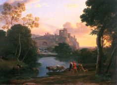 View of Tivoli at Sunset, Claude Lorrain (1602-1682).
