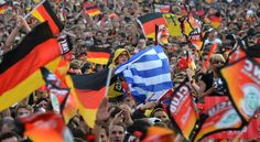 Greece vs. Germany Spills Off Soccer Field  and we won!!!