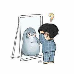 Kim JongIn mejor conocido como Kai ha estado intimidando a Do KyungSo… #fanfic # Fanfic # amreading # books # wattpad Chanbaek, Kaisoo, Kyungsoo, Exo Stickers, Cute Stickers, Exo Cartoon, Cute Cartoon, Exo Fanart, Exo Anime