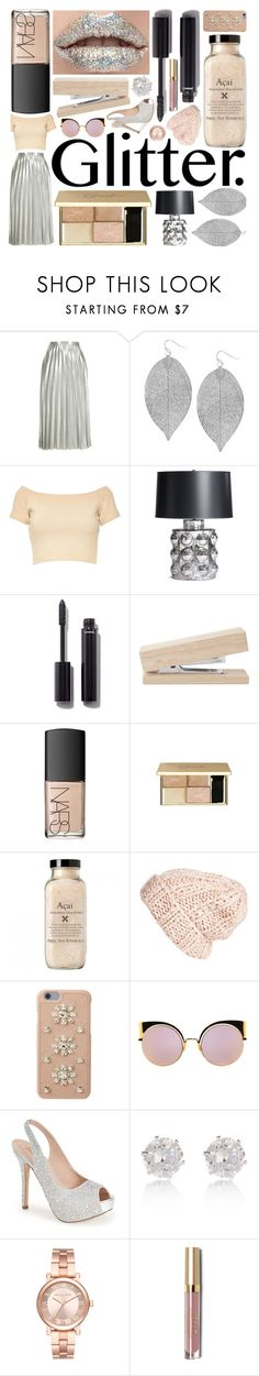 """✨Glitter Lips✨"" by lexi-loves-fashion ❤ liked on Polyvore featuring beauty, Topshop, Humble Chic, Alice + Olivia, Chanel, NARS Cosmetics, Free People, MICHAEL Michael Kors, Fendi and Lauren Lorraine"