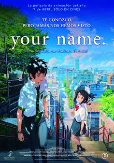 kimi no na wa [your name] makoto shinkai Your Name Movie, Your Name Anime, Manga Anime, Film Anime, Couples Anime, The Garden Of Words, What Is Your Name, Poster S, Animes Wallpapers