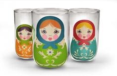 3 Sapglaasjes - Babushcups | Hibbies Keuken & Tafel Gifts | HIBBIES.COM