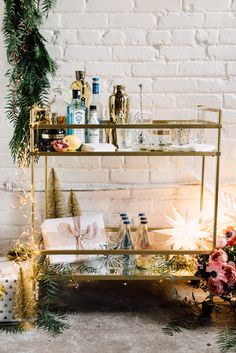 5 Tips on How to get your Bar Cart Holiday Ready - The Roc Blog