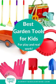 Help the kids work and play in the garden with the best kids garden tools including gloves spades rakes wagons watering cans and more! Kids Gardening Set, Kids Gardening Gloves, Kids Up, Kids Work, Cool Kids, Best Garden Tools, Garden Tool Set, Watering Cans, Bebe