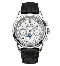 Patek Philippe Grand Complications Silver Dial Chronograph 18K White Gold Men's Watch 5270G-018