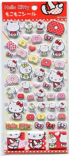 Sanrio Hello Kitty Underpants Sponge Sticker Sheet #1 #Sanrio
