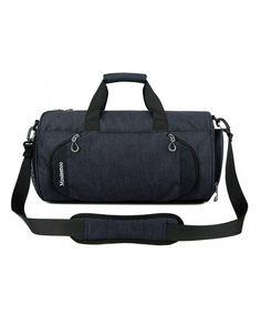 Gym Bag Butterflies Blue White Stones Women Canvas Duffel Bag Cute Sports Bag for Girls