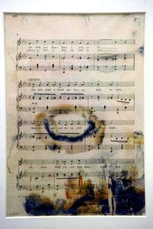 Sheet music for 'Put Your Arms Around Me, Honey' from the Broadway production 'Madame Sherry,' is shown as part of the artifacts collection at a warehouse in Atlanta. Rms Titanic, Titanic Sinking, Titanic Ship, Titanic History, Titanic Movie, Titanic Photos, Belfast, Southampton, Titanic Underwater