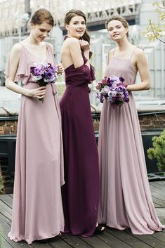 21 Ideas For Rustic Bridesmaid Dresses ❤️ rustic bridesmaid dresses mismatched burgundy purple joanna august ❤️ Full gallery: https://weddingdressesguide.com/rustic-bridesmaid-dresses/ #wedding #bride #rusticwedding #bridesmaiddress